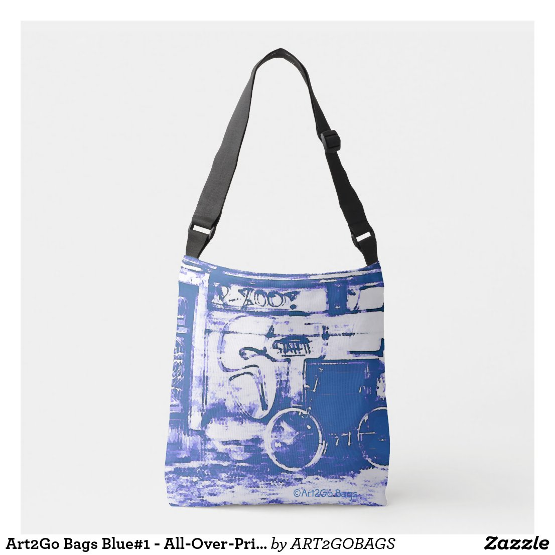 Art2Go Bags Blue#1 - All-Over-Print Cross Body Bag