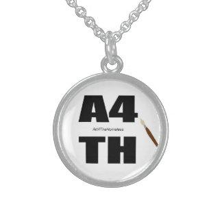 Art4TH Logo Necklase Round Pendant Necklace