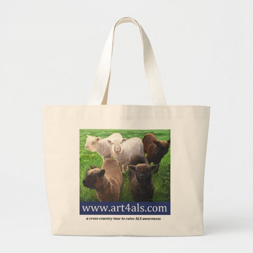 "ART 4 ALS tote bag featuring ""Five Spring Lambs"""