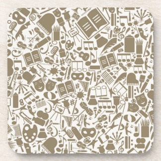 Art a background drink coaster