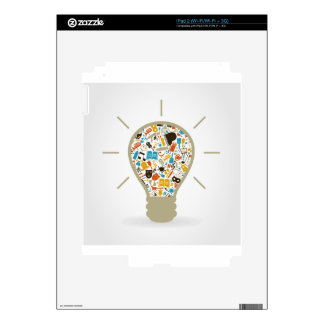Art a bulb iPad 2 skin