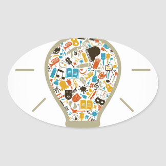 Art a bulb oval sticker