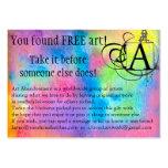 Art Abandonment Rainbow Watercolor Business Card Templates