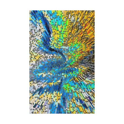 Art Abstract 3D Gallery Wrapped Canvas