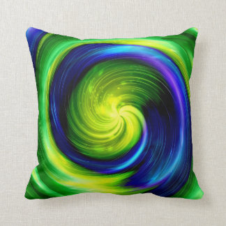 Art Abstract colorful spiral 6 Throw Pillow