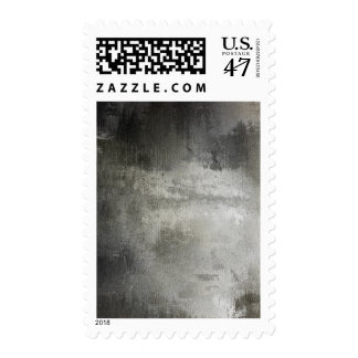art abstract grunge black and white textured postage