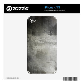art abstract grunge black and white textured skin for the iPhone 4S