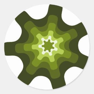 art  abstract illustration classic round sticker