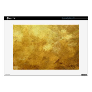 art abstract painted background in golden color decal for laptop