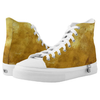 art abstract painted background in golden color High-Top sneakers