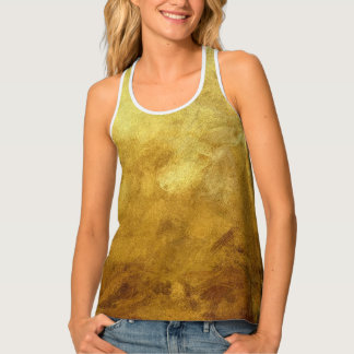 art abstract painted background in golden color tank top