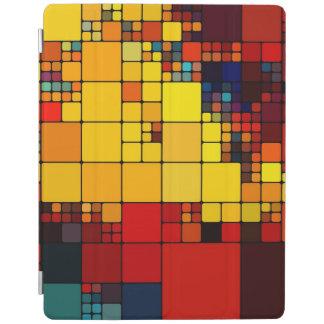 Art abstract vibrant rainbow geometric pattern iPad cover