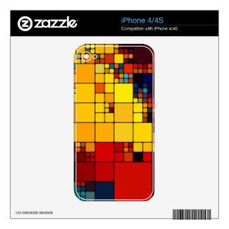 Art abstract vibrant rainbow geometric pattern iPhone 4S decal