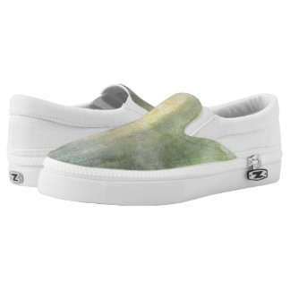 art abstract watercolor background on paper 2 2 Slip-On sneakers