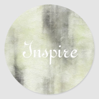 art abstract watercolor background on paper 2 classic round sticker