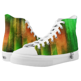 art abstract watercolor background on paper 2 High-Top sneakers