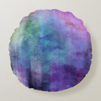 art abstract watercolor background on paper 2 round pillow