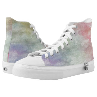 art abstract watercolor background on paper 3 2 High-Top sneakers