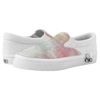 art abstract watercolor background on paper 3 2 Slip-On sneakers