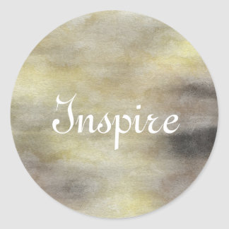 art abstract watercolor background on paper classic round sticker