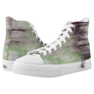 art abstract watercolor background on paper High-Top sneakers