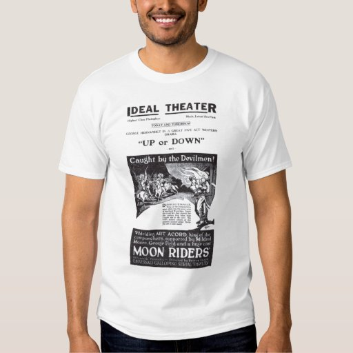 Art Acord 1920 vintage serial movie ad T-shirt