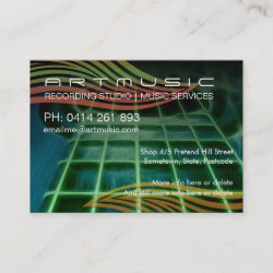 Art Acoustico Guitar Business Card