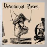 Art Ancient Religious Devotion Self-Torture Poses Poster