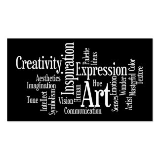 Art and Inspiration Business Card for Creative Pro