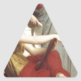 Art and Literature by William-Adolphe Bouguereau Triangle Sticker