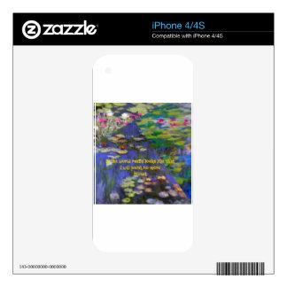 Art and Monet's quote Decal For The iPhone 4