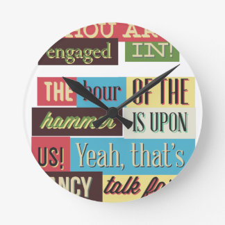 art and painting great design round clock