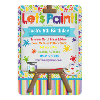 Art and Painting Party Invitation