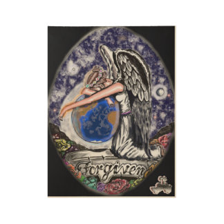 Art & Angel's Forgiven Wood Poster