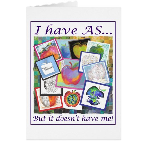 Art Apple Collage Greeting Card