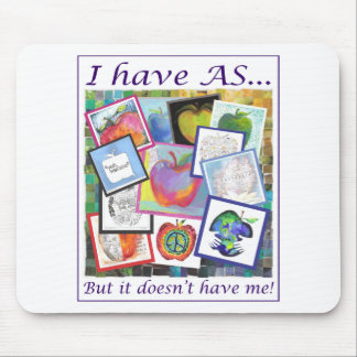 Art Apple Collage Mouse Pad