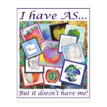 Art Apple Collage Postcard