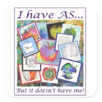 Art Apple Collage Square Sticker