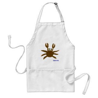 Art Apron: Crazy Beach Crab Adult Apron