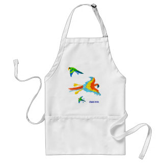 Art Apron: Tropical Parrots Adult Apron