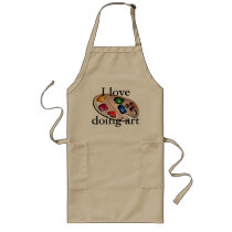 Art Artist Painting Painter Crafts Studio Workshop Long Apron