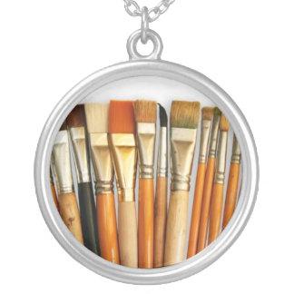 Art artists brush necklace pendant