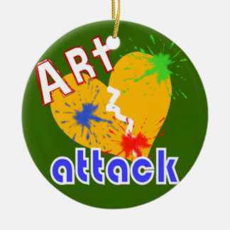 Art Attack Ceramic Ornament