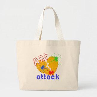 Art Attack Jumbo Tote Bag