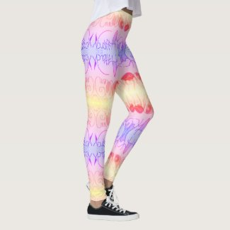 Art Attack - Pastel - by EelKat Wendy C. Allen Leggings