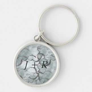 art avant-garde gray, black hand paint keychain