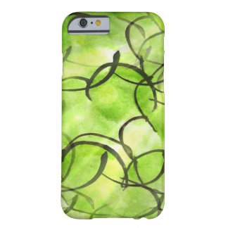 art avant-garde hand paint background green barely there iPhone 6 case