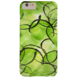 art avant-garde hand paint background green barely there iPhone 6 plus case