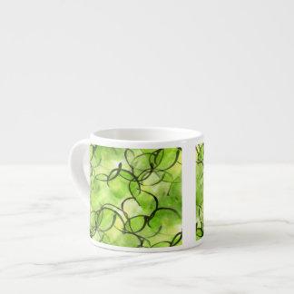 art avant-garde hand paint background green espresso cup