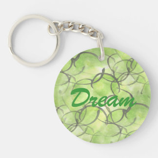 art avant-garde hand paint background green keychain